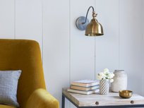 Brass wall light in Gaston style