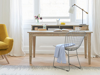 Rudyard reclaimed wooden study home office writing desk