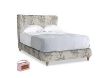 Double Hugger Bed in Dusty Blue vintage rose