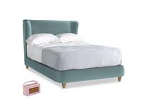 Double Hugger Bed in Lagoon clever velvet