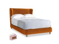 Double Hugger Bed in Spiced Orange clever velvet