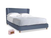 Kingsize Hugger Bed in Breton blue clever cotton