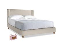 Kingsize Hugger Bed in Buff brushed cotton