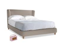 Kingsize Hugger Bed in Driftwood brushed cotton
