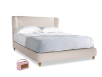 Kingsize Hugger Bed in Faded Pink brushed cotton