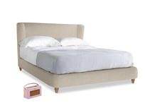 Kingsize Hugger Bed in Flagstone clever woolly fabric
