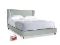 Kingsize Hugger Bed in French blue brushed cotton