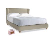 Kingsize Hugger Bed in Jute vintage linen