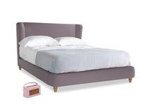 Kingsize Hugger Bed in Lavender brushed cotton