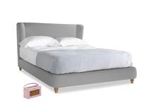 Kingsize Hugger Bed in Magnesium washed cotton linen