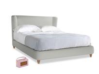 Kingsize Hugger Bed in Mineral grey clever linen