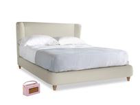 Kingsize Hugger Bed in Pale rope clever linen