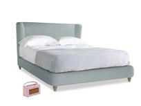 Kingsize Hugger Bed in Quail's egg clever linen