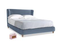 Kingsize Hugger Bed in Winter Sky clever velvet