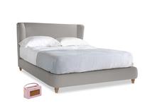 Kingsize Hugger Bed in Wolf brushed cotton