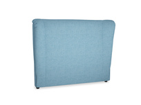 Double Hugger Headboard in Moroccan blue clever woolly fabric