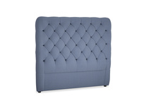 Double Tall Billow Headboard in Breton blue clever cotton