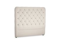 Double Tall Billow Headboard in Buff brushed cotton