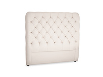 Double Tall Billow Headboard in Faded Pink brushed cotton