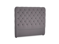 Double Tall Billow Headboard in Graphite grey clever cotton