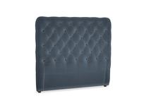 Double Tall Billow Headboard in Liquorice Blue clever velvet