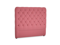 Double Tall Billow Headboard in Raspberry brushed cotton