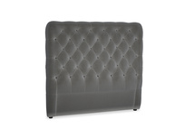 Double Tall Billow Headboard in Steel clever velvet