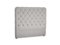 Double Tall Billow Headboard in Wolf brushed cotton