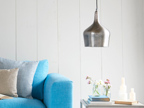 Foundry hanging pendant light in Vintage-y Pewter