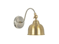 Gaston contemporary brass wall light