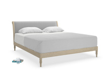 Superking Darcy Bed in Magnesium washed cotton linen