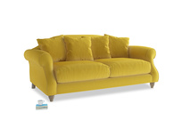 Small Sloucher Sofa in Bumblebee clever velvet