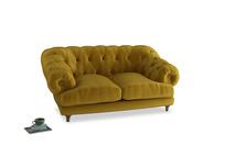 Small Bagsie Sofa in Burnt yellow vintage velvet