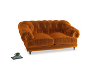 Small Bagsie Sofa in Spiced Orange clever velvet