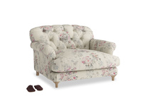 Truffle Love seat in Pink vintage rose