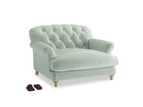 Truffle Love seat in Mint clever velvet