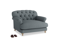Truffle Love seat in Meteor grey clever linen