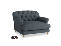 Truffle Love seat in Lava grey clever linen