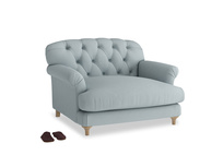 Truffle Love seat in Quail's egg clever linen