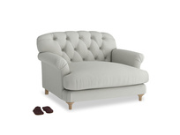 Truffle Love seat in Mineral grey clever linen