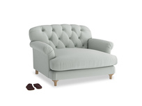 Truffle Love seat in Eggshell grey clever cotton