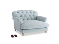 Truffle Love seat in Scandi blue clever cotton