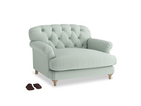 Truffle Love seat in Sea surf clever cotton