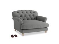 Truffle Love seat in French Grey brushed cotton