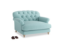 Truffle Love seat in Adriatic washed cotton linen