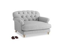Truffle Love seat in Mist cotton mix
