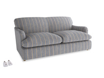 Medium Pudding Sofa Bed in Brittany Blue french stripe