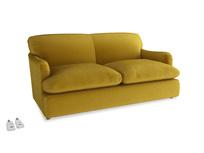 Medium Pudding Sofa Bed in Burnt yellow vintage velvet
