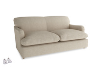 Medium Pudding Sofa Bed in Flagstone clever woolly fabric