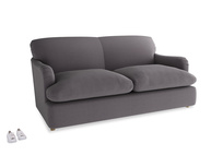 Medium Pudding Sofa Bed in Graphite grey clever cotton